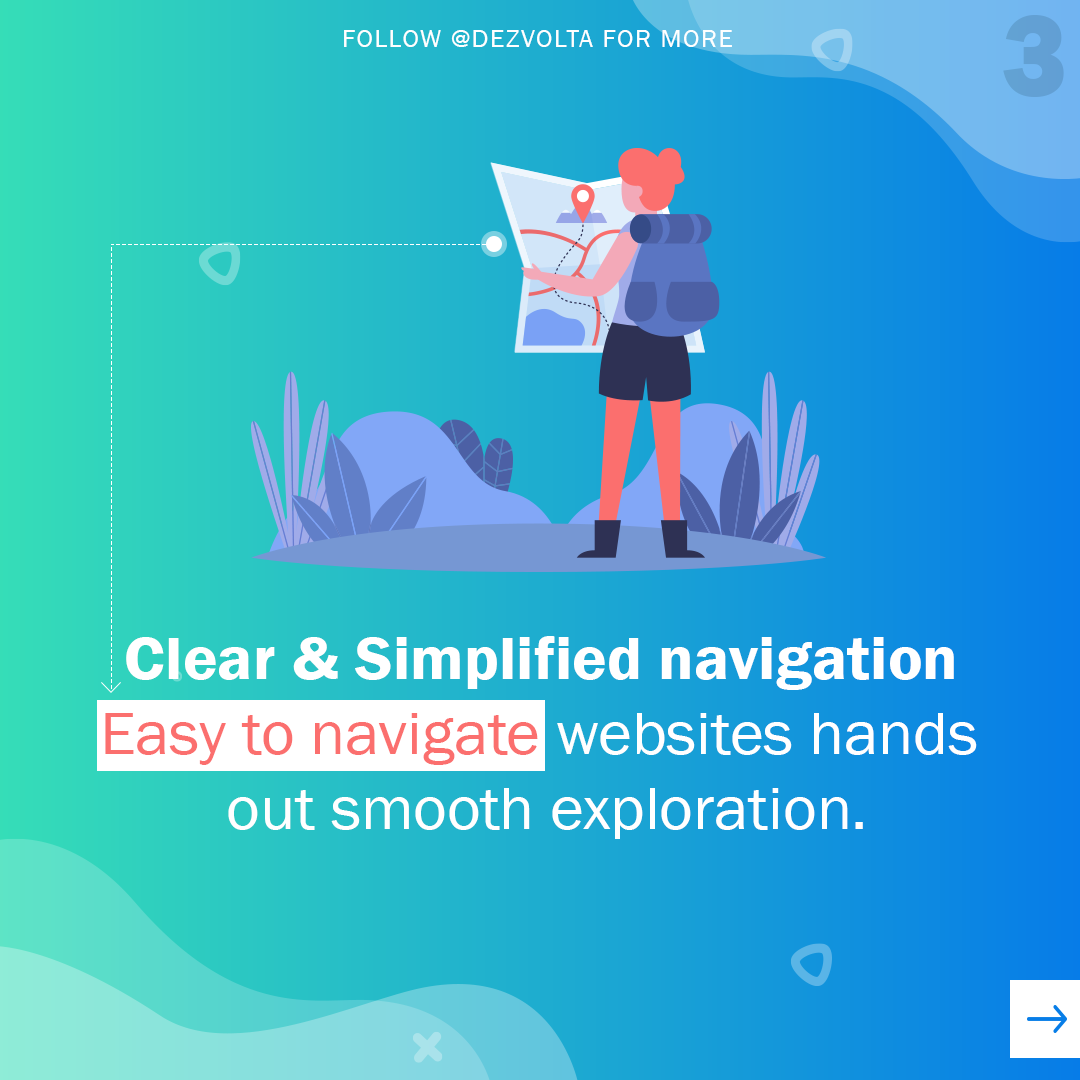Clear and Simplified eCommerce navigation
