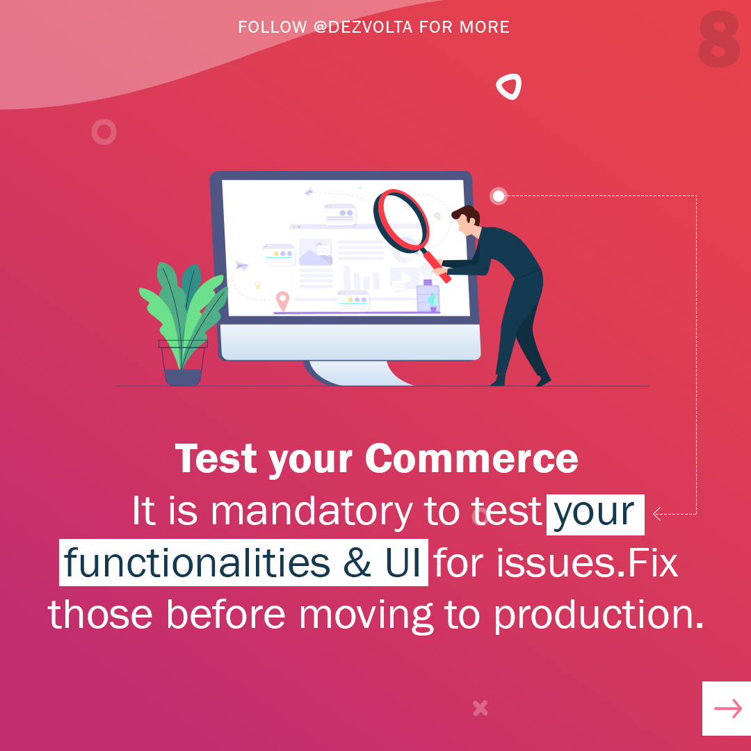 We test your eCommerce website for bugs